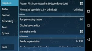best ppsspp Features settings