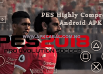 PES 2018 Apk + Data Highly Compressed