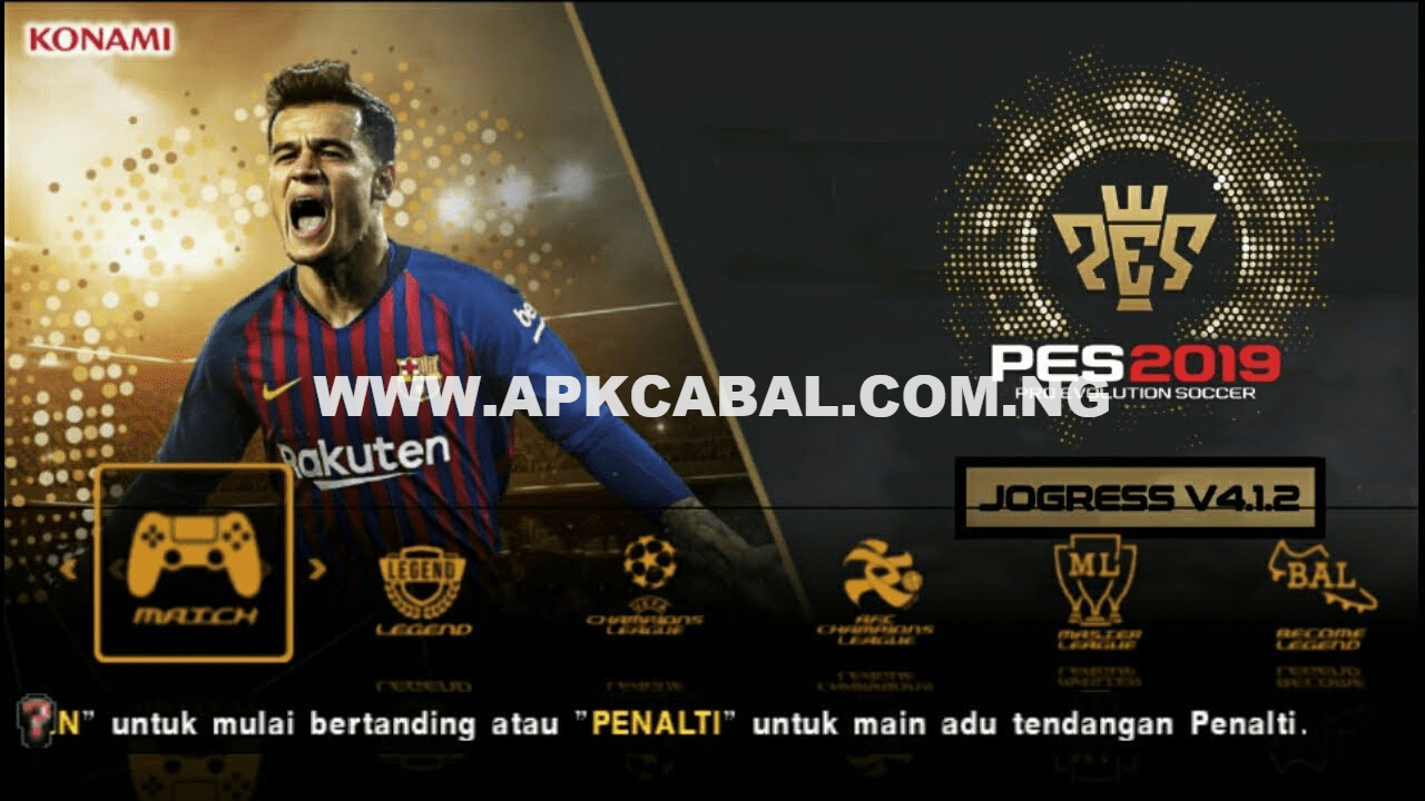 PES 2019 PPSSPP ISO Jogress v4 1 2 Download For Android