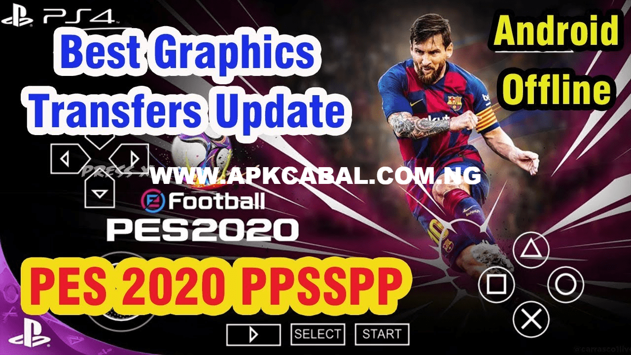 PES 2020 PPSSPP ISO English (PS4 Camera) Android - ApkCabal