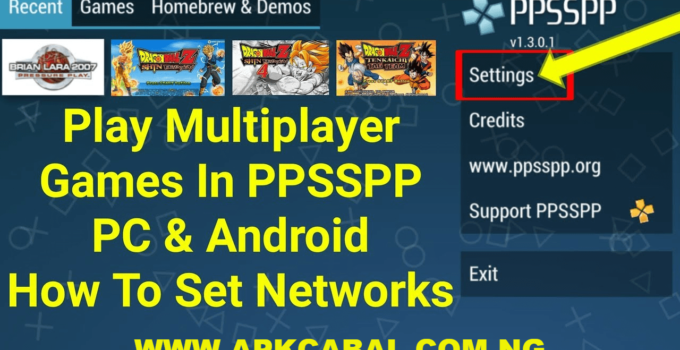 Play Multiplayer On PPSSPP