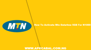 How To Activate Mtn Data4me 5GB For N1000