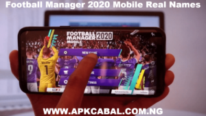 football manager 2020 mobile real names save data
