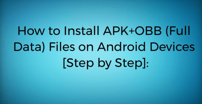 how to install apk