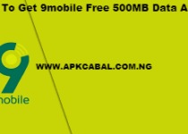how to get 9mobile free 500mb data