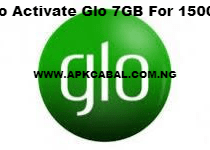 glo 7gb for 1500 naira