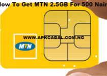 mtn 2.5gb for 500 naira