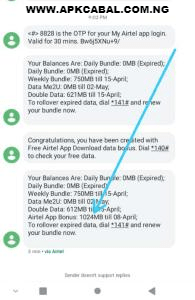 free airtel 1gb data