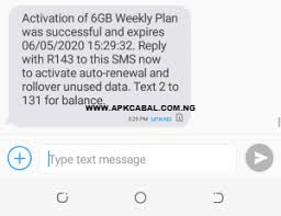 mtn fcmb data 6gb for 350 naira