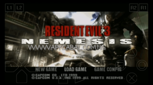 resident evil 3 nemesis ppsspp psx iso highly compressed