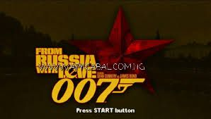 007 From Russia With Love psp save data